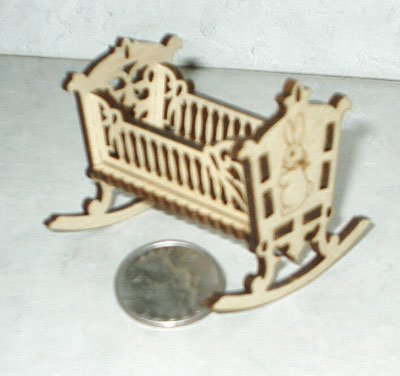 Dollhouse cradle 1/24 scale